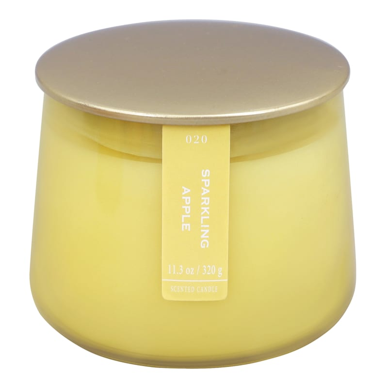 Sparkling Apple 11.3oz Gold Lip Glass Candle