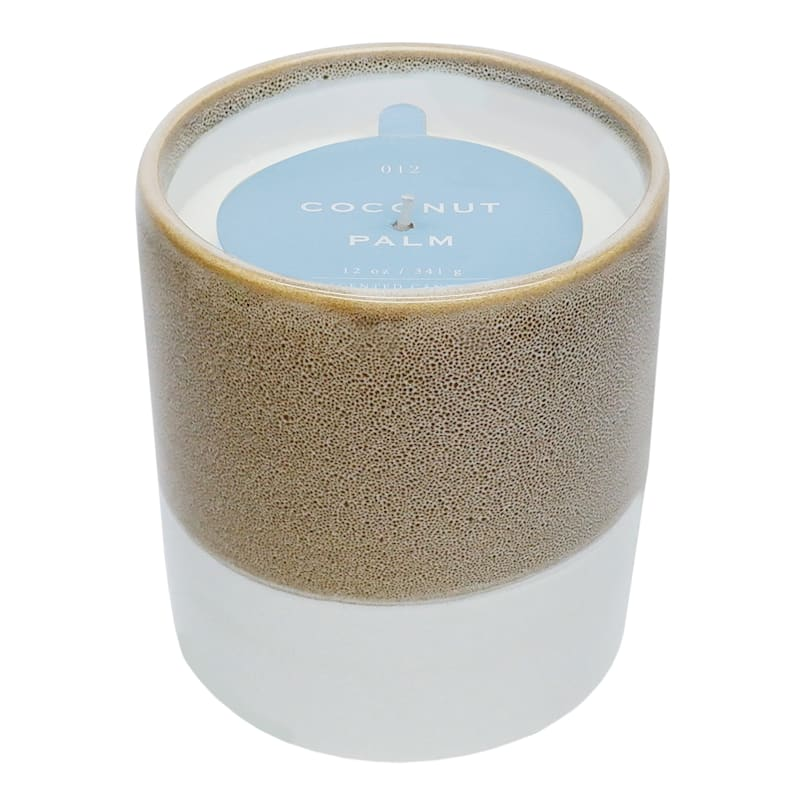Coconut Palm 12oz Layer Ceramic Candle