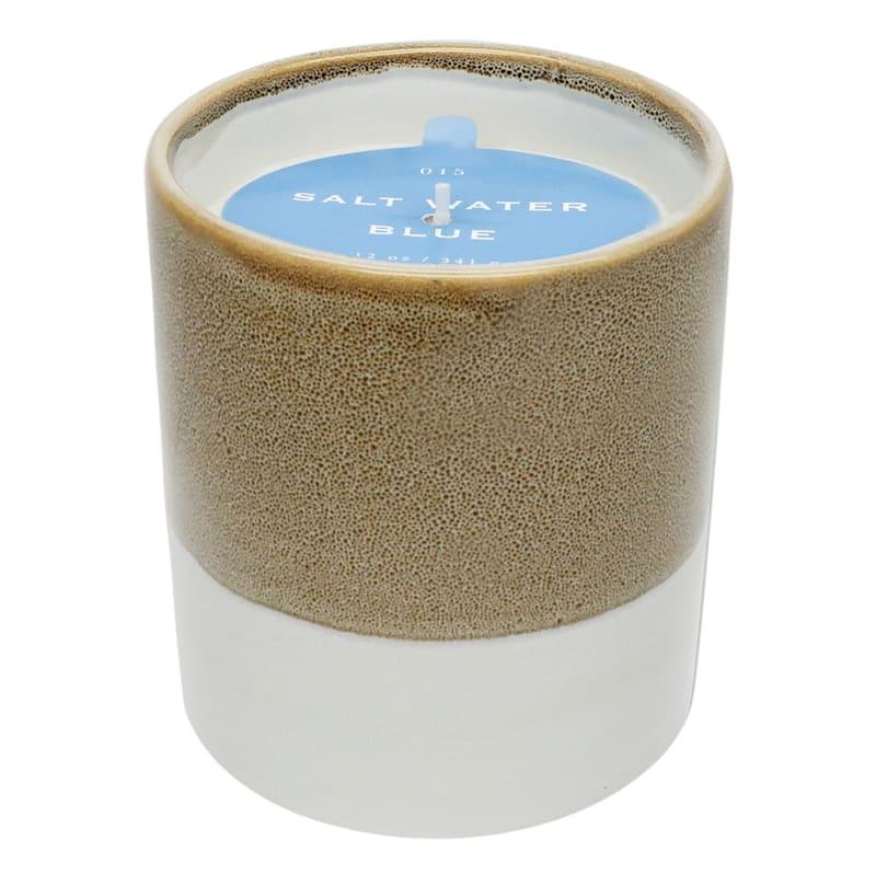 Salt Water Blue 12oz Layer Ceramic Candle