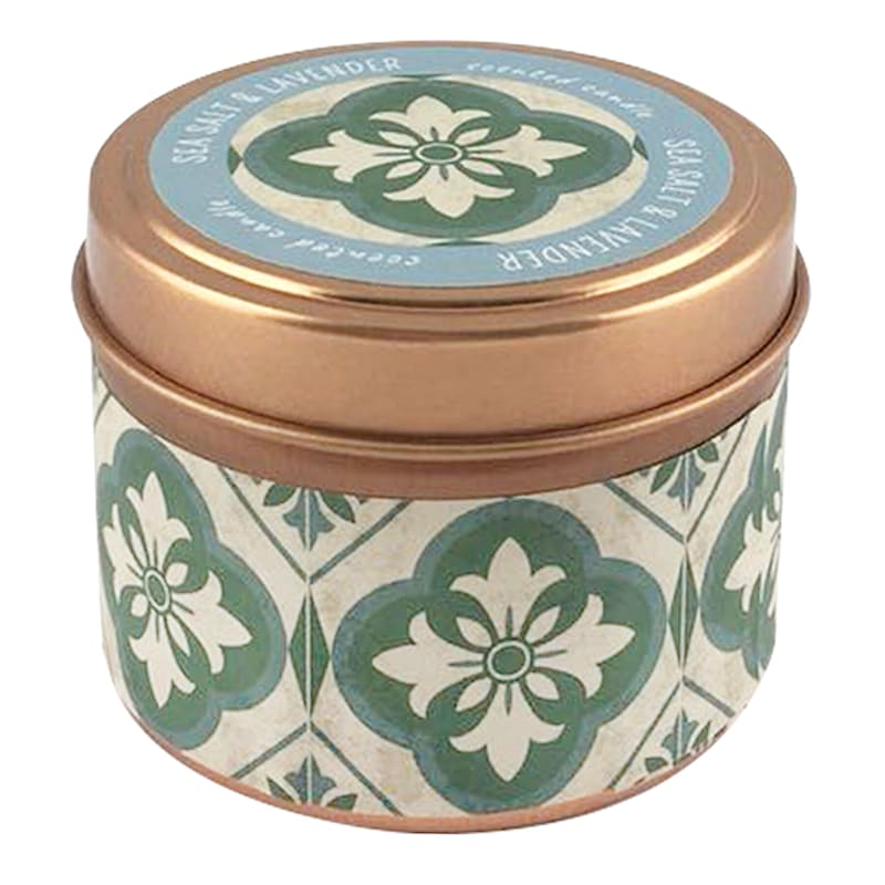 3oz Sea Salt And Lavender Candle Tin