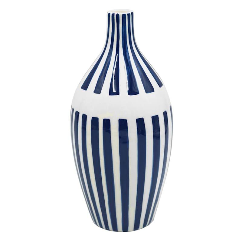 8in. Blue/White Ceramic Vase