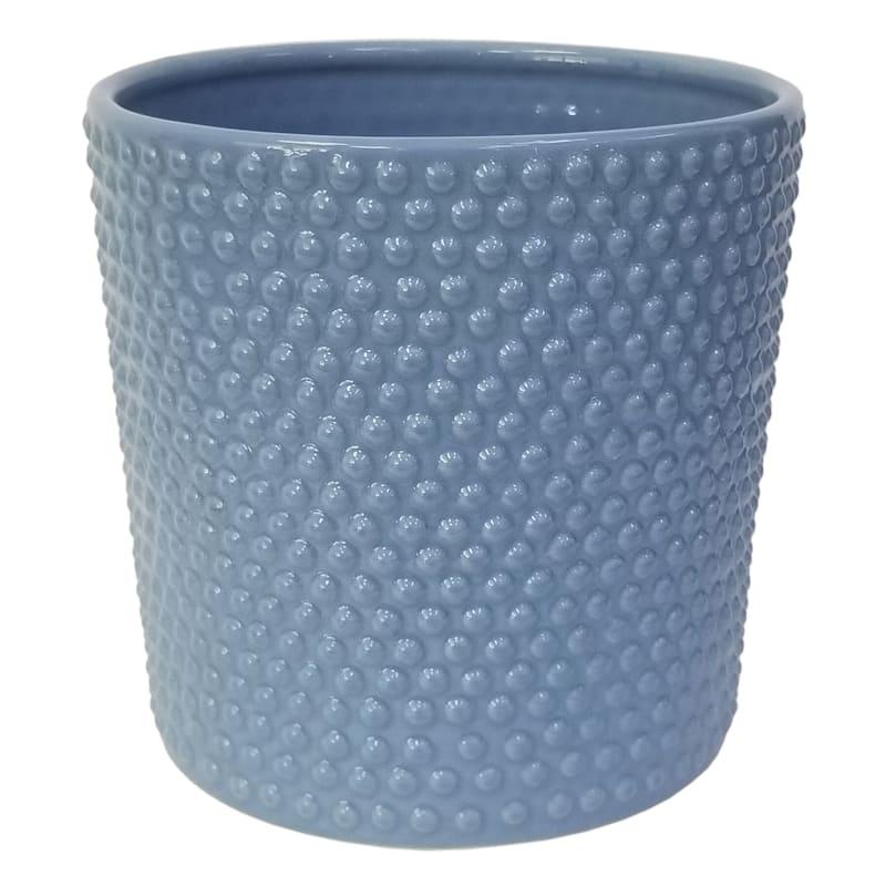Grace Mitchell Stoneware Pot Blue Texture 8in. Diameter
