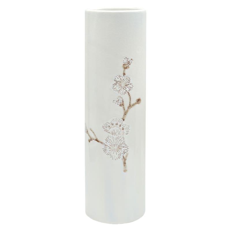 Tracey Boyd 14in. White Floral Ceramic Vase