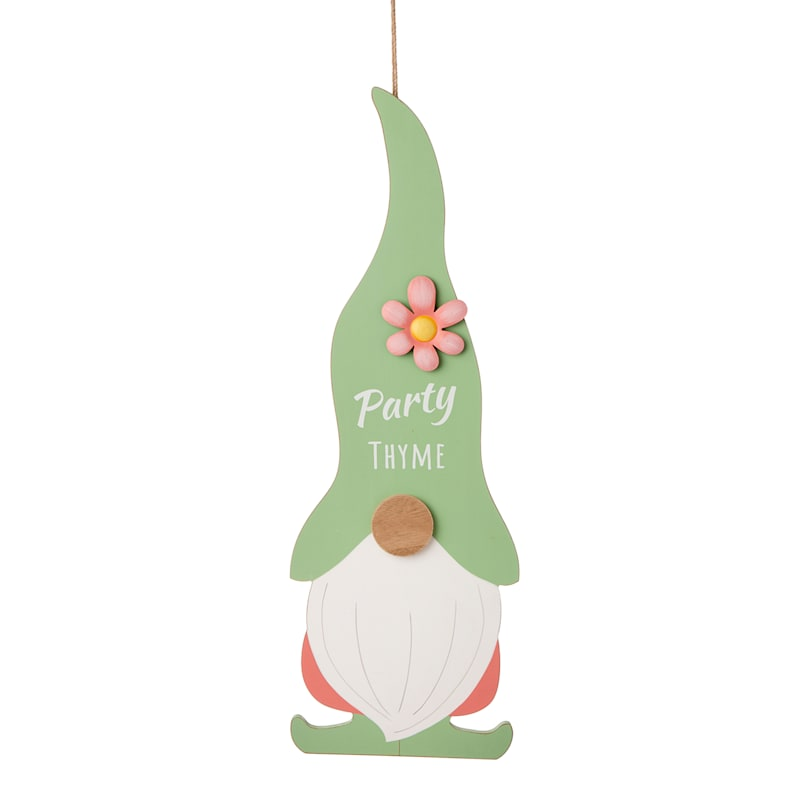 "Wood Party Gnome Decor, 30"""