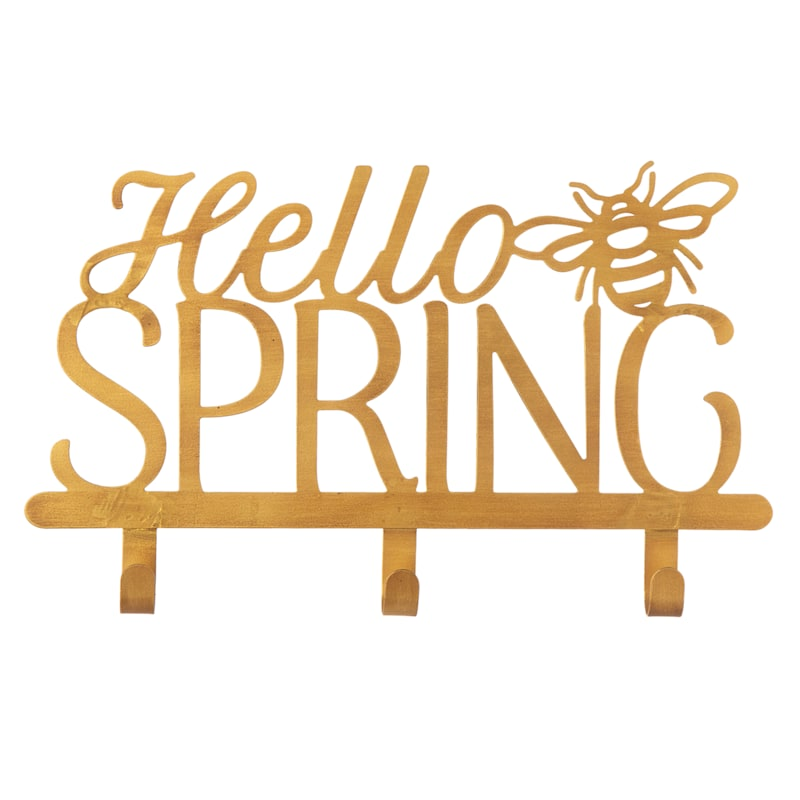 """Grace Mitchell Gold Hello Spring Bee & Hook, 14.5"""""""