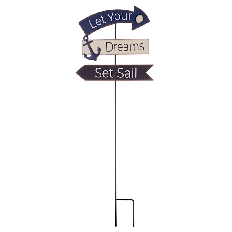 36in. Metal Dreams Set Sail Stake