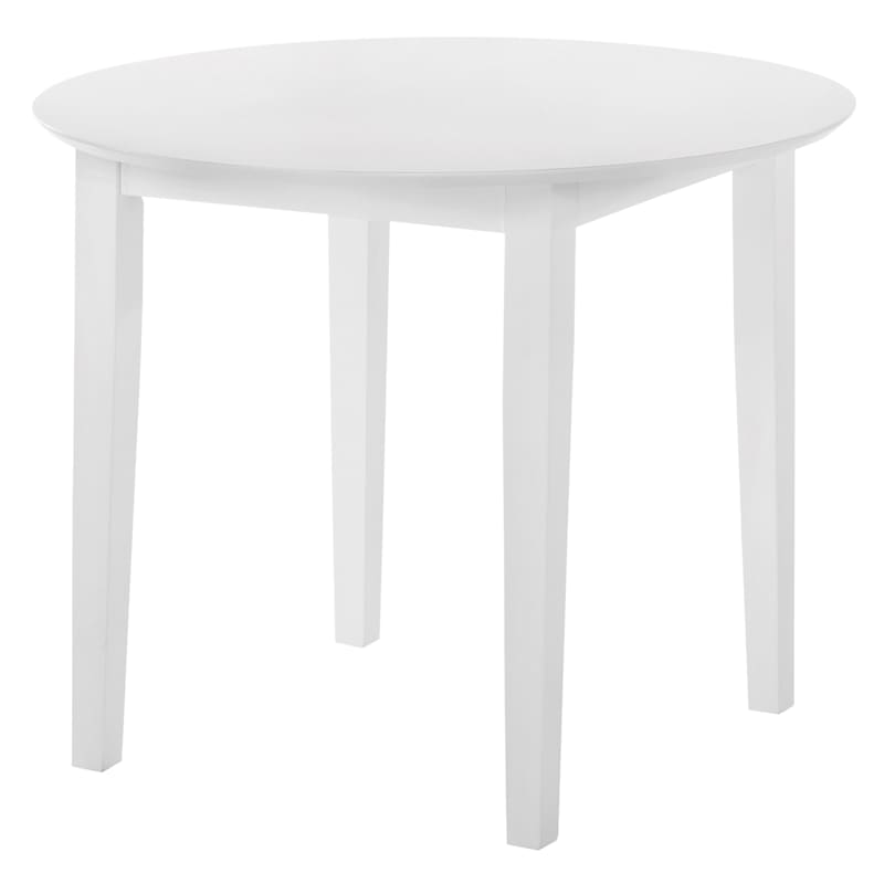 Sophia White Round Dining Table, 35""