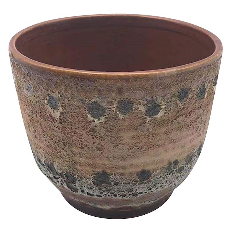 3in. Ceramic Brown Flower Pot