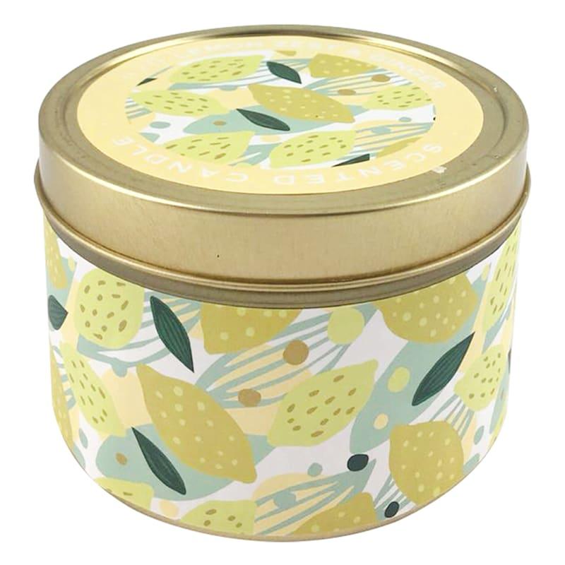 9oz Lemon Zest And Ginger Candle Tin