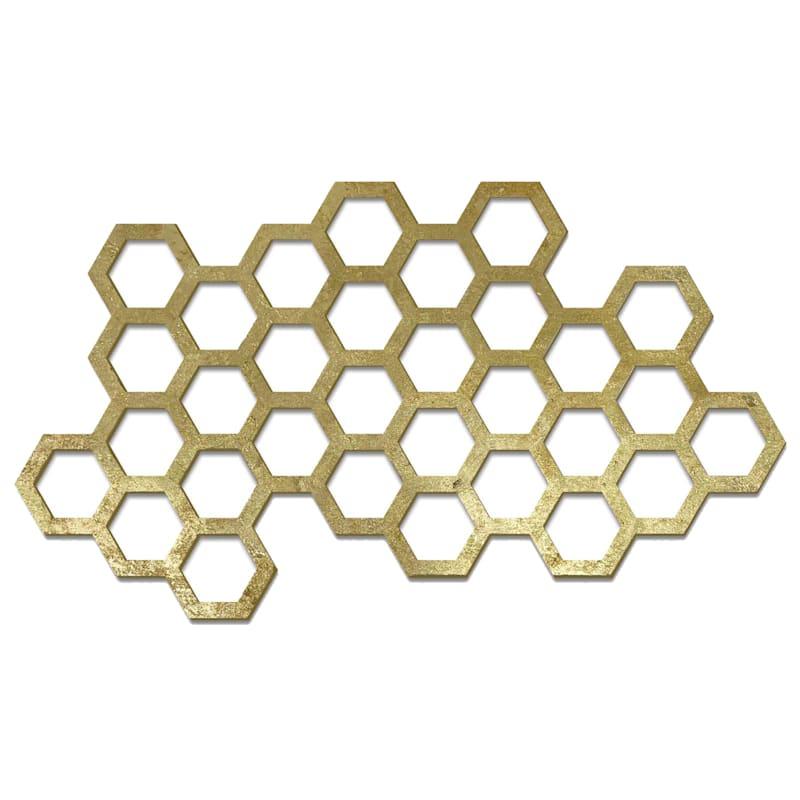 17X13 Wood Honeycomb Wall Decor