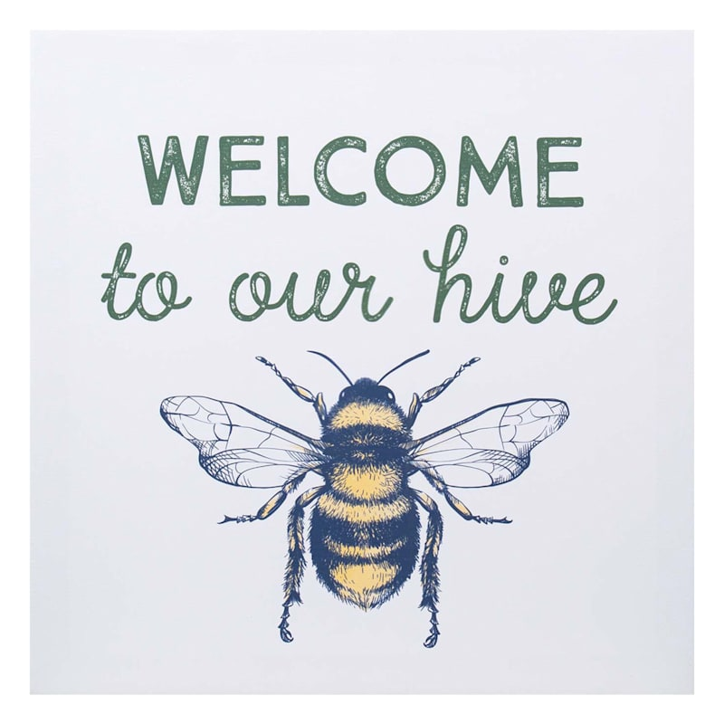 12X12 Welcome Hive Canvas Wall Art
