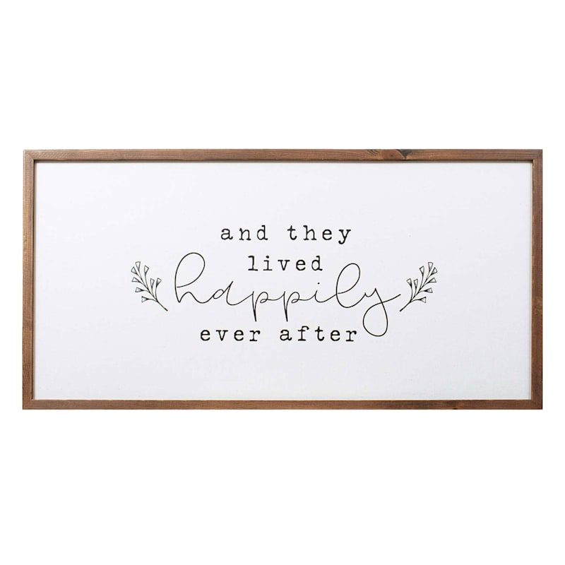 32X16 Happy Ever After Canvas Wall Art