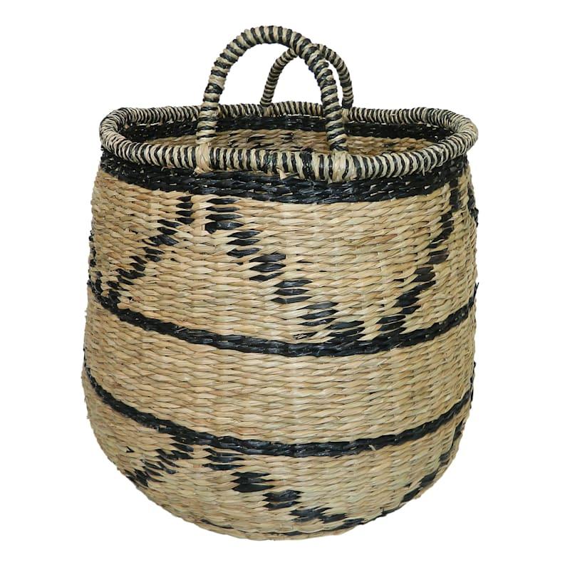Seagrass Basket/Zig Zag Accent