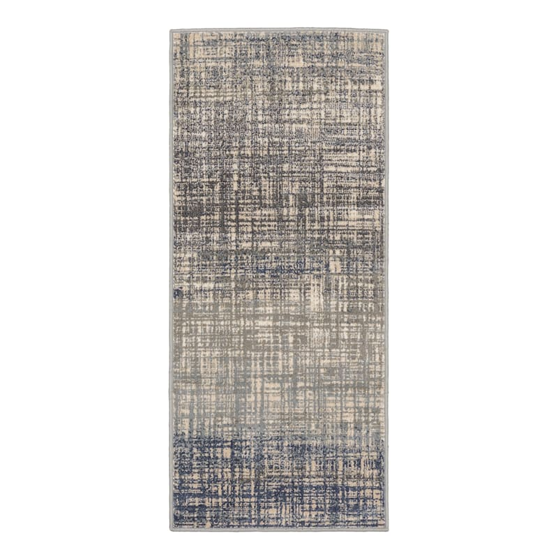 (D476) Addison Indoor Abstract Contemporary Area Rug Blue, 2x5