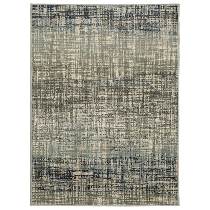 (D476) Addison Indoor Abstract Contemporary Area Rug Blue, 5x7