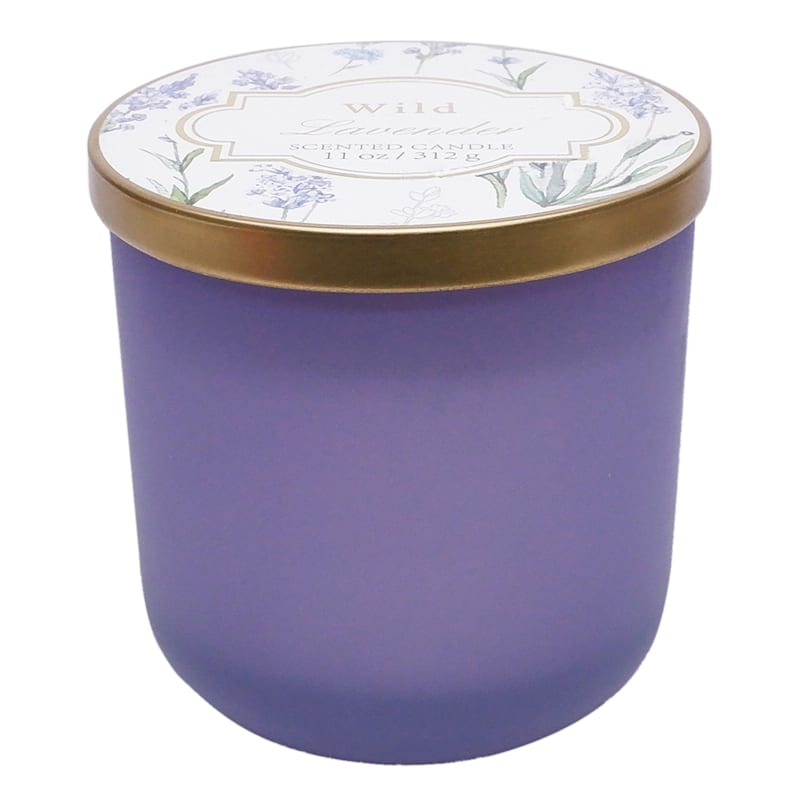 Wild Lavender 11oz Glass Candle