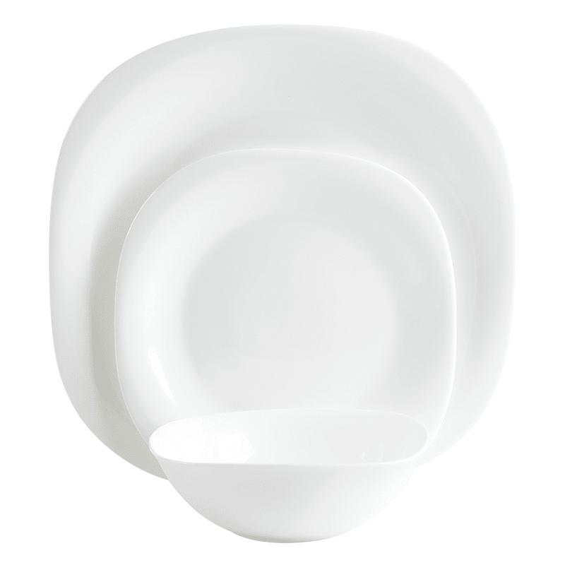 NEXT 12 Piece SOFT SQUARE Porcelain White Dinner Set NEW