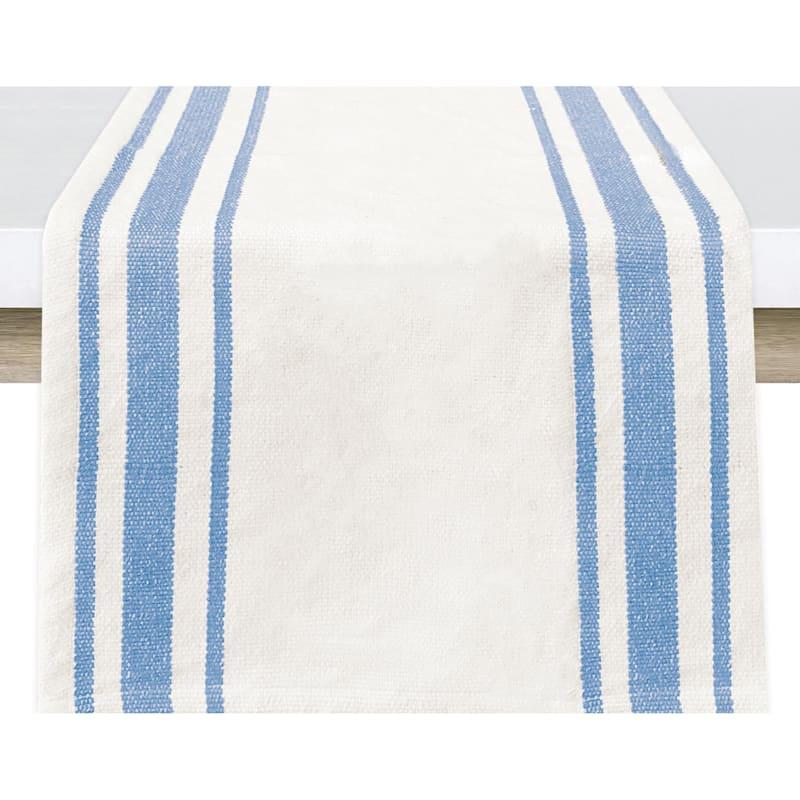 Caf� Stripe Runner 14X72 Blue