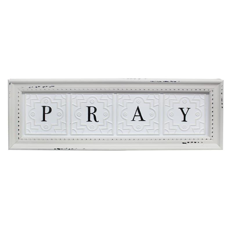5.5X20 Pray Pac Framed Art Under Glass