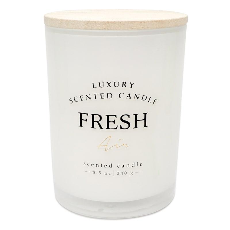 Fresh Air 8.5oz Wood Lid Glass Candle