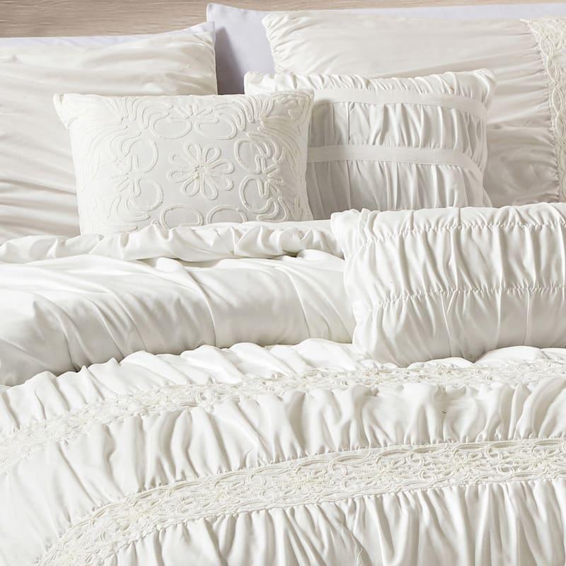 Grace Mitchell Cream 7-Piece Chantilly Comforter Set Queen