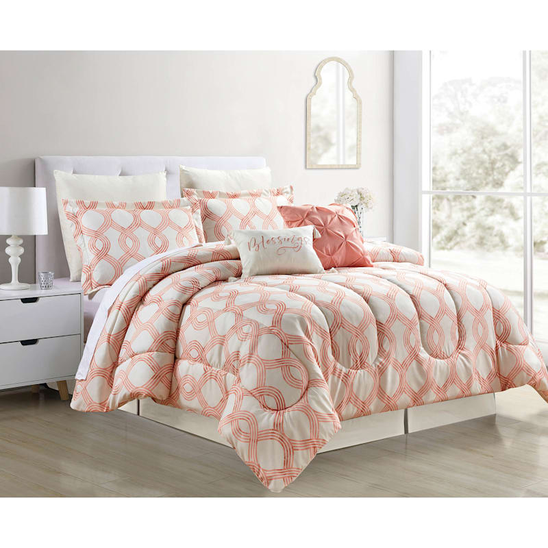 Grace Mitchell 8-Piece Trellis Comforter Set, Queen