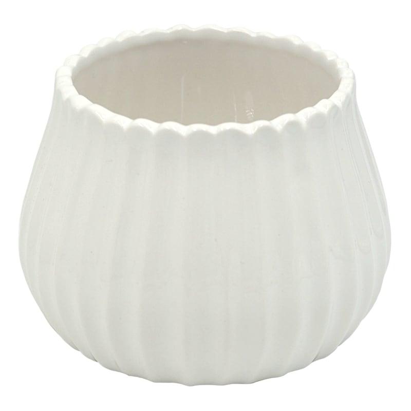 Grace Mitchell 3.8in. White Ceramic Vase