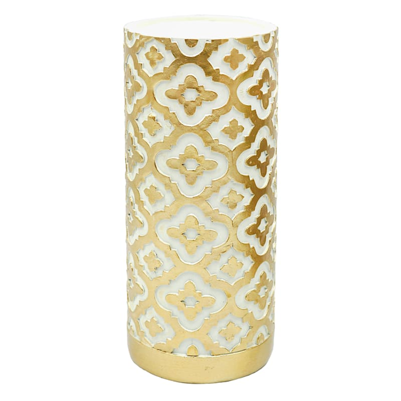 Grace Mitchell 9in. Resin Gold Pillar Holder