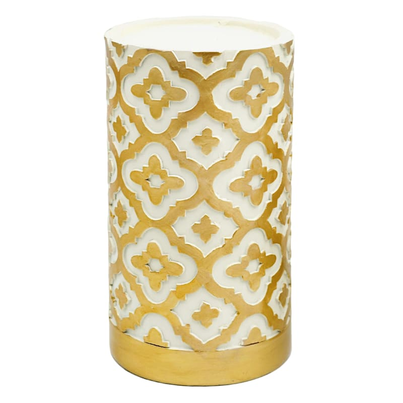 Grace Mitchell 7in. Resin Gold Pillar Holder