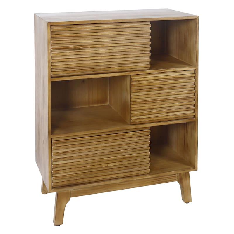 3 Drawer 3 Shelf Wood Storage Cabinet