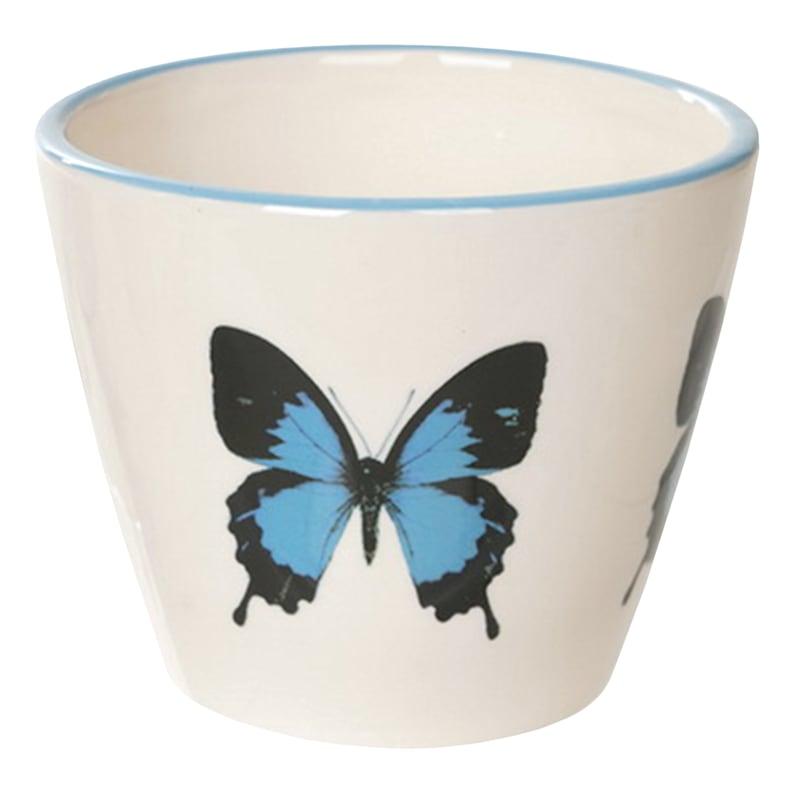 """Grace Mitchell Ceramic Butterfly Pot, 5"""""""