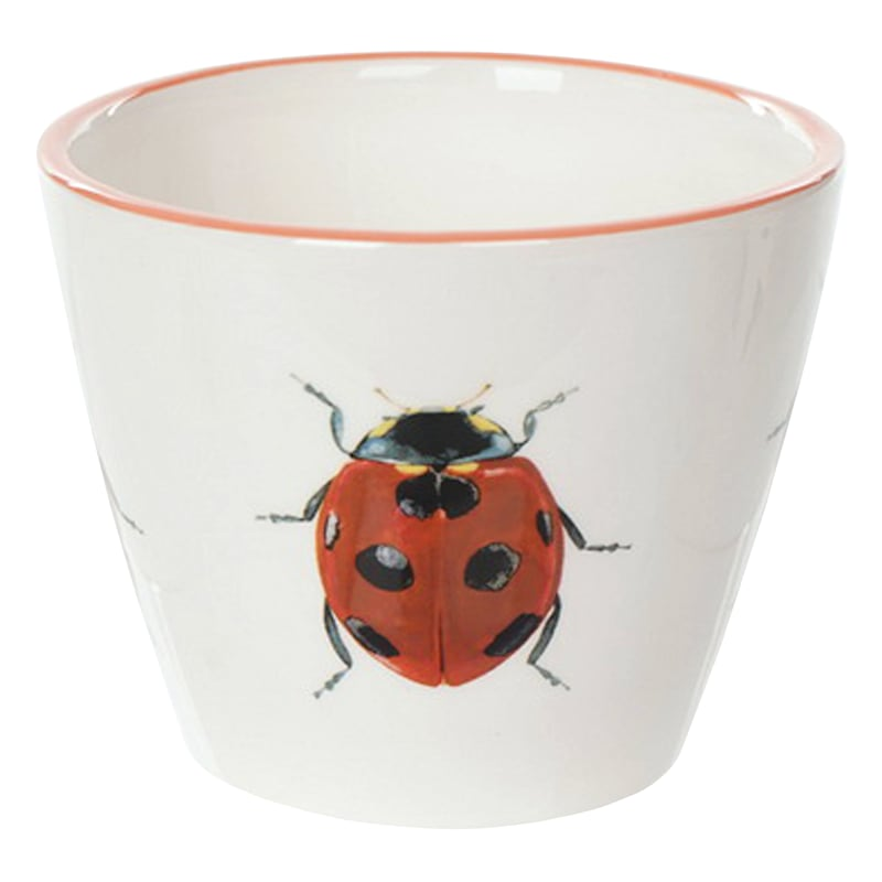 "Grace Mitchell Ceramic Ladybug Pot, 5"""