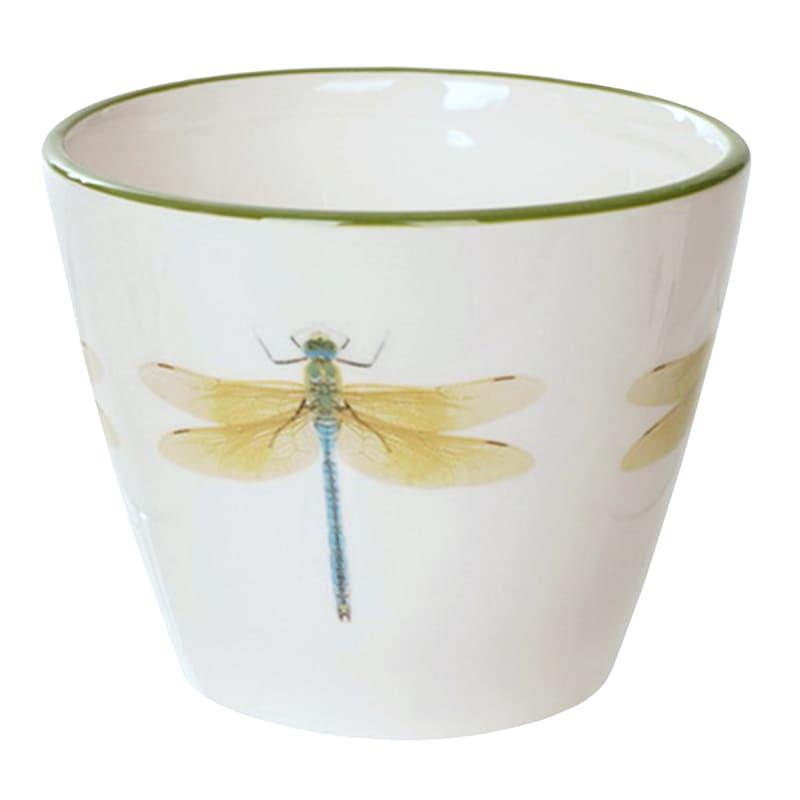 "Grace Mitchell Ceramic Dragonfly Pot, 5"""