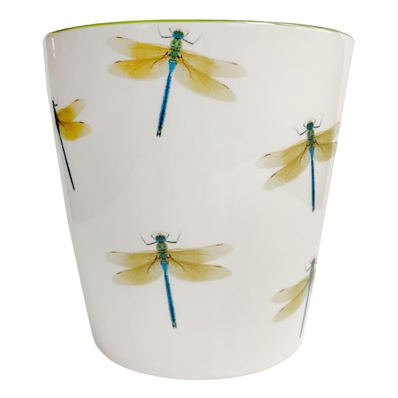 "Grace Mitchell Ceramic Dragonfly Pot, 6"""