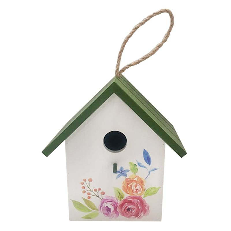 Grace Mitchell 7.5in. Wood Birdhouse Blu Roof