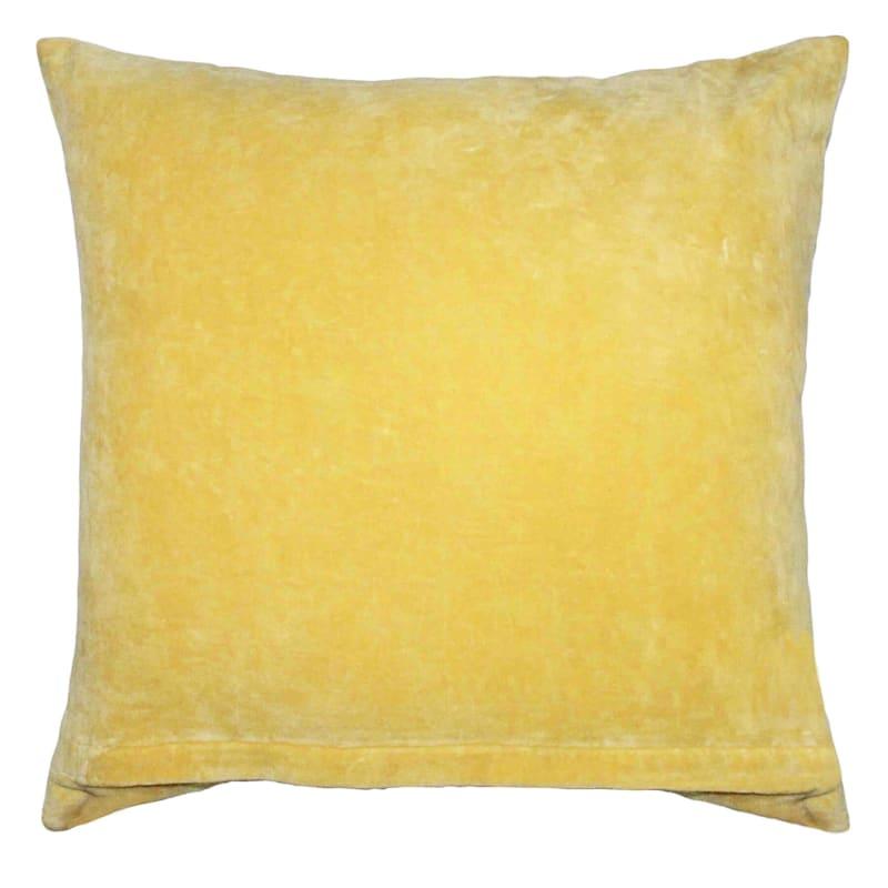 Tracey Boyd Yellow Velvet Pillow 20X20