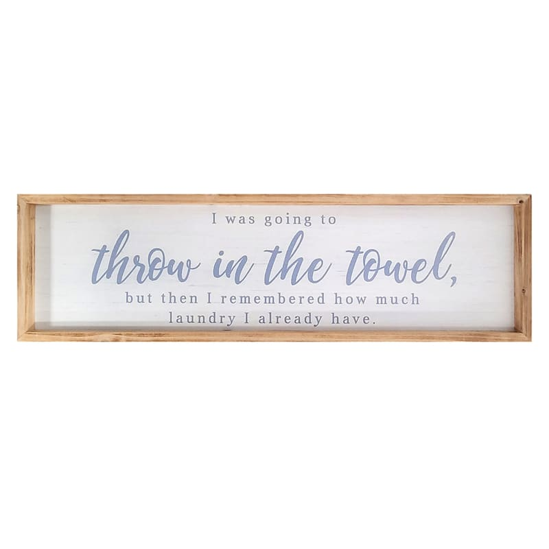 34X10 Throw In The Towel Framed Wall Art