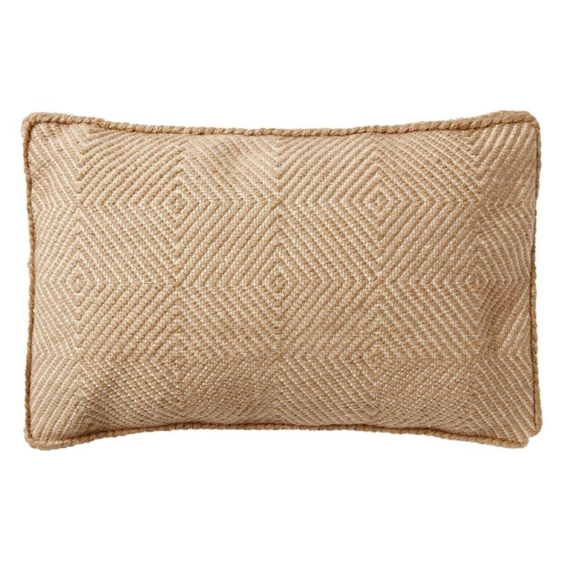 21in. Tan Woven Pillow