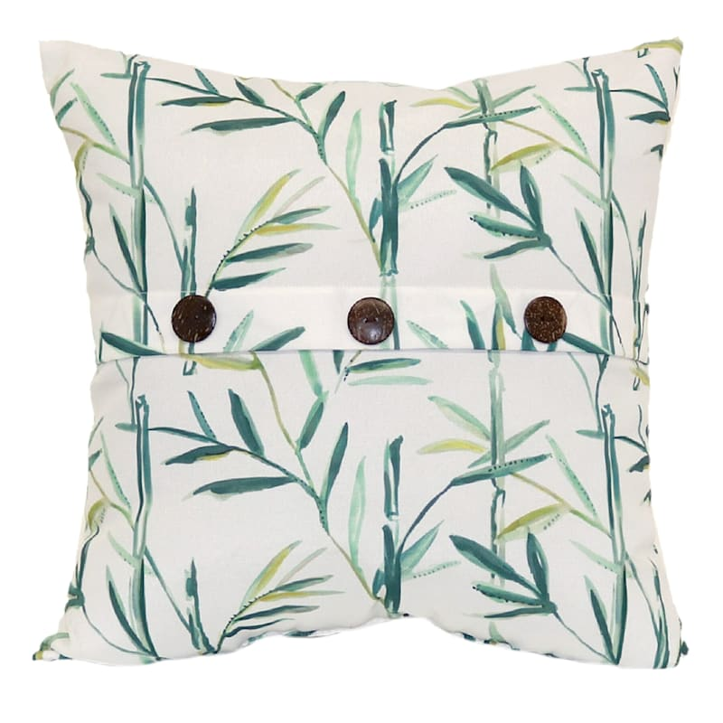 Tracey Boyd Botanical Button 18X18 Indoor/Outdoor Decorative Pillow