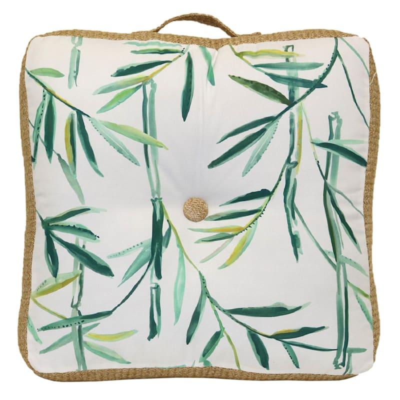 Tracey Boyd Botanical Hermosa Oversized 22X22X5 Indoor/Outdoor Floor Cushion/Handle