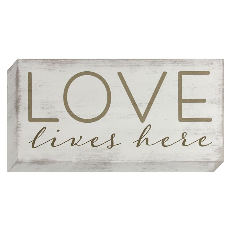 Love Lives Here Canvas Wall Art