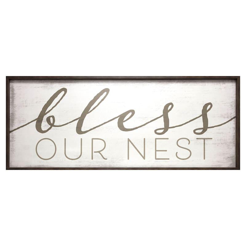 Bless This Nest Framed Print Under Glass