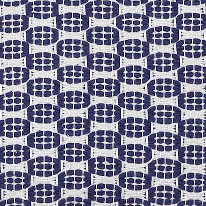 BLUE WHITE WOVEN 18X18 TASSLE