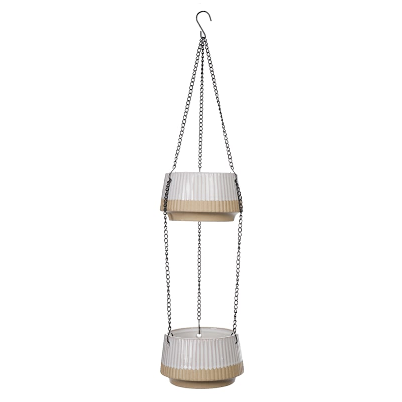 River 2-Tier Hanging Planter