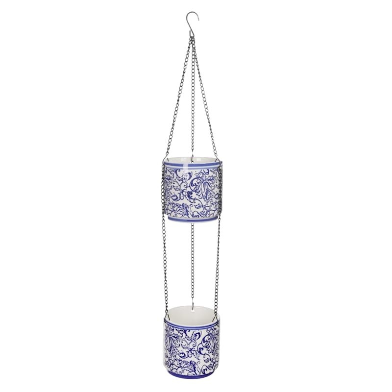 Anne Two Tier Hanging Planter Powder Coating Finish