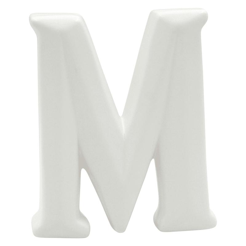 6IN WHITE CERAMIC M