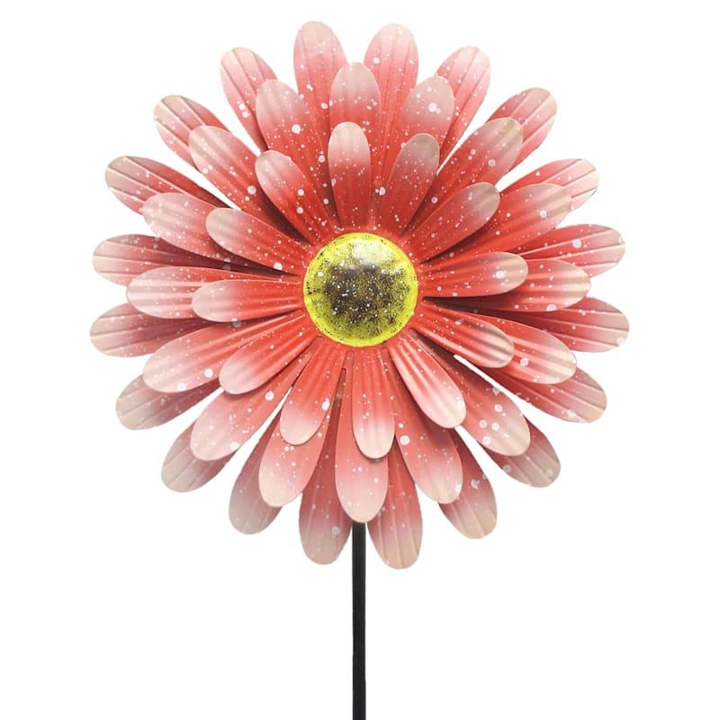 Metal Red Flower Stake