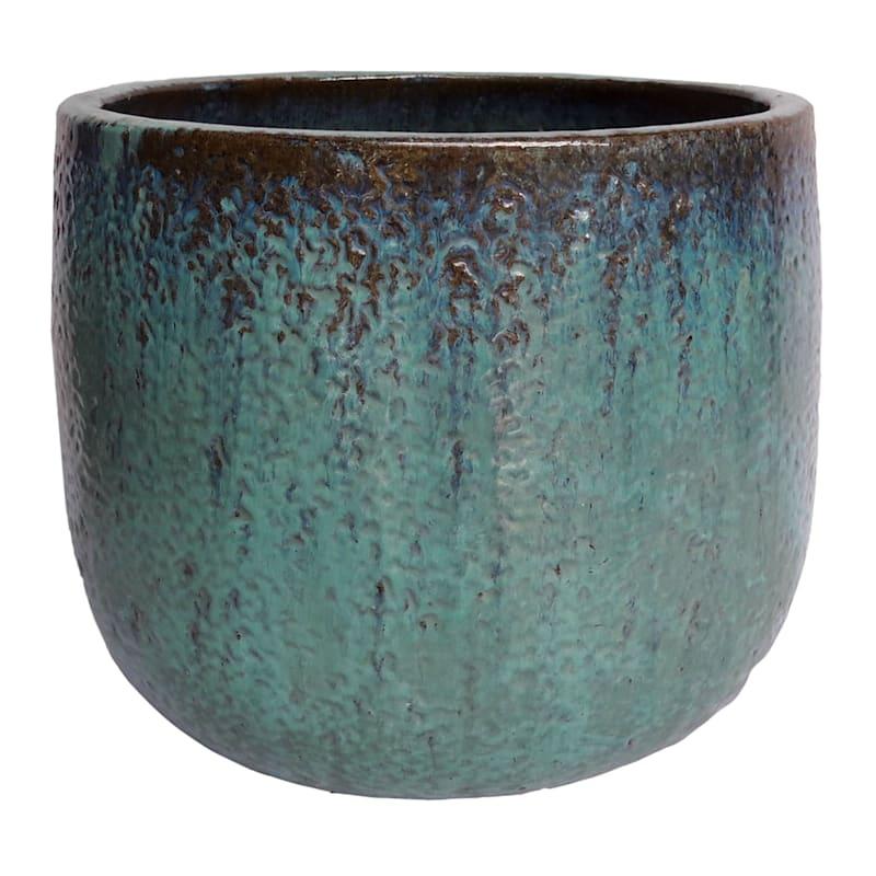15in. Glazed Pot Green Large