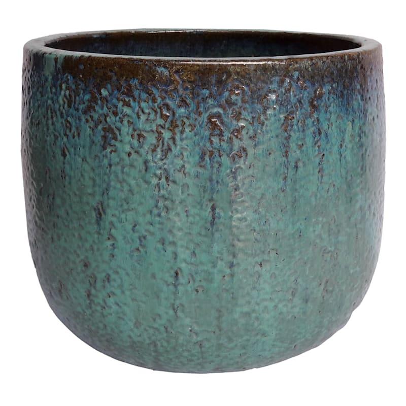 11in. Glazed Pot Green Medium