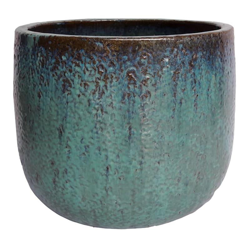 7in. Glazed Pot Green